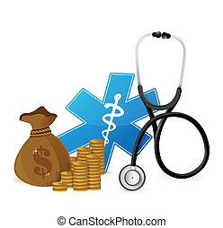 medical expenses concept illustration design over white