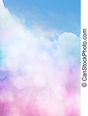 Bokeh Cloud Gradient - An abstract cloudscape with bokeh...