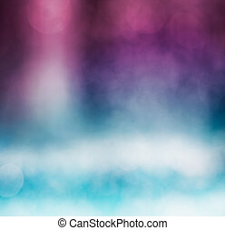 Bokeh Gradient - An abstract bokeh background with a blue to...