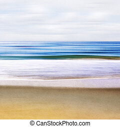 Seascape Abstract - An abstract ocean seascape with blurred...