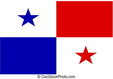 Flag of Panama, national country symbol illustration