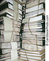 the pile of archive papers