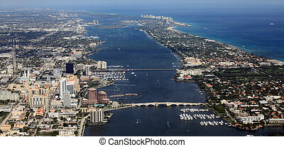 West Palm Beach - Aerial view of West Palm Beach, Palm Beach...