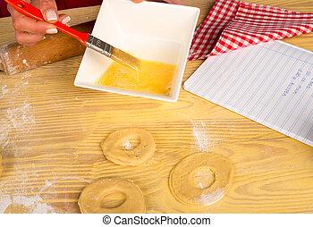 Egg for bagels