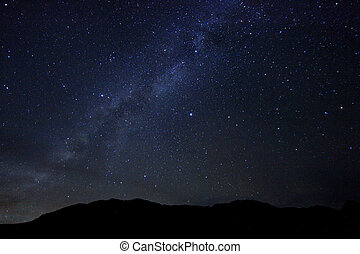 Time Lapse Image of the Night Stars