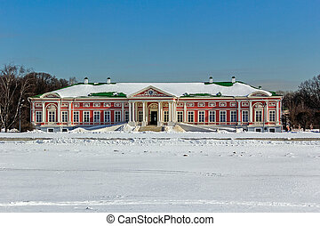 Big Palace in Kuskovo - Kuskovo, historic park in south-east...