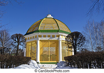 Aviarium in Kuskovo - Kuskovo, historic park in south-east...