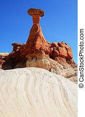 Paria Rimrocks Red Toadstool Hoodoo in Southern Utah