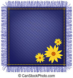 Napkin from jeans fabric and flowers - Napkin from jeans...