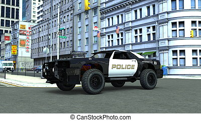 police car - image of police car