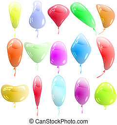 Background with glossy multicolored balloons. Vector illustration.
