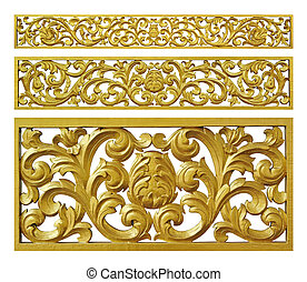Gold decoration iron floral
