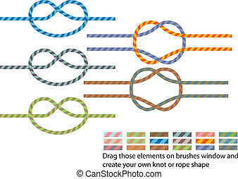 Climbing rope pattern - Vector pack of various climbing rope...