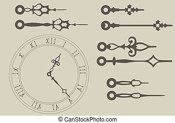 Clock hands - Vector clock hands pack