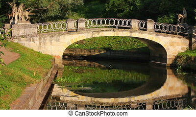 Centaurs bridge in Pavlovsk park Saint-Petersburg Russia