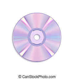 CD disc isolated on white