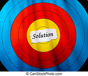 Target on solution