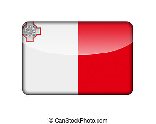 The Maltese flag in the form of a glossy icon.
