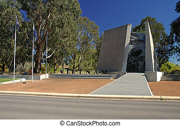 vietnam war memorial in canberra on anzac parade, nice day,...