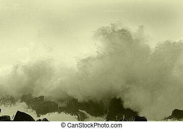 ocean storm 9 - big ocean storm ( Commander Islands )