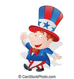 Cute Happy Uncle Sam