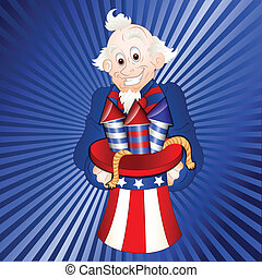 Uncle Sam with Fireworks