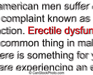 Erectile Dysfunction - Limp wood problem Abstract