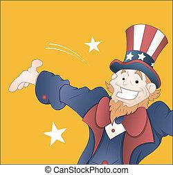 Happy Uncle Sam Vector