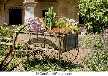 Spanish Mission - An old Spanish Mission cart