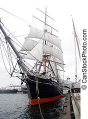 Tall Ship - A tall ship in harbor