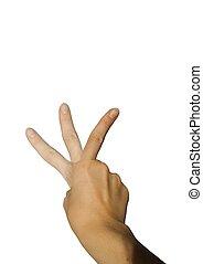 waving forefinger - a forefinger waving, isolated on white