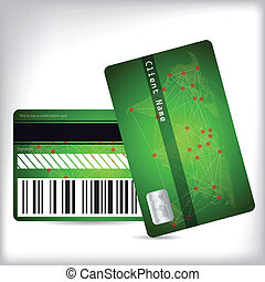 Green loyalty card design front and back - Loyalty card...