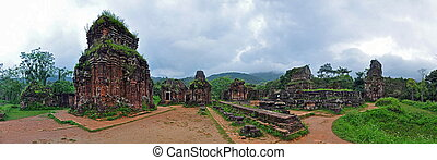 My Son Hindu temple ruins, Vietnam - Panorama of My Son...