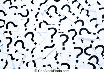 Question mark bacgkround - Many black question mark on...