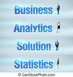 Business, Analytics, Solution, Statistics : pack of banners.