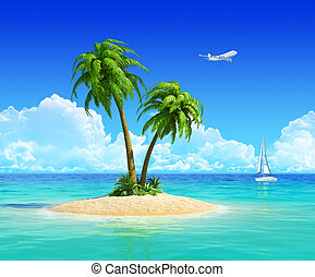 Concept for travel, vacation, trip, holidays, resort, and...