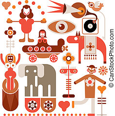 Circus - vector illustration - Circus Show - color vector...