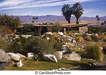 Hillside Palm Springs Home - This is a picture of a hillside...