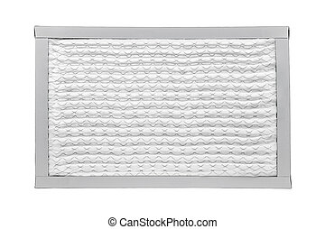 Furnace filter - New furnace filter isolated on white...