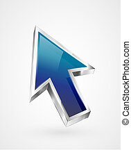 3d vector glossy arrow mouse pointer EPS10
