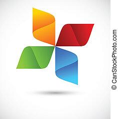 Abstract logo - Abstract colorful logo. Bright illustration
