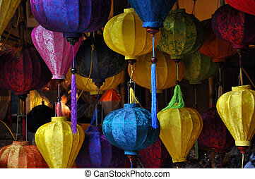 Silk lanterns in Hoi An, Vietnam