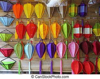 Silk lanterns in Hoi An, Vietnam