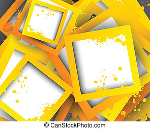 Abstract background with orange squares. Bright illustration