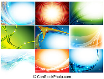 colorful huge vector set of holidays backdrops. Eps10