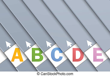 Set of numbered banners Abstract illustration