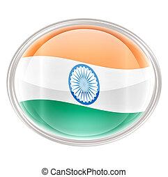 India Flag icon, isolated on white background
