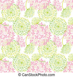 Springtime Colorful Flower Seamless Pattern Background