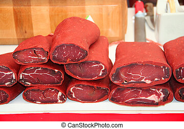 Pastirma, turkish air dried meat