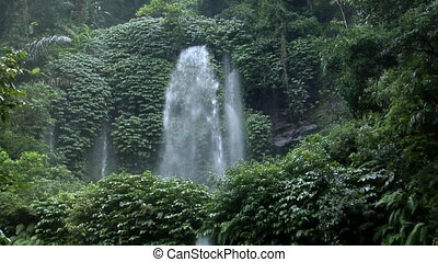 Huge indonesia waterfall tilt 10117